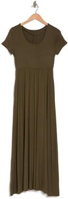 WEST KEI Short Sleeve Knit Maxi Dress