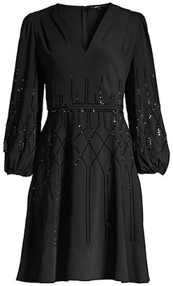 Kobi Halperin Cassie Embellished Fit-&-Flare Dress