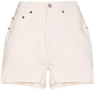 RE/DONE High-Waist Denim Shorts