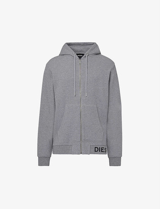 Diesel S-ELECTRUM waffle-knit cotton-blend hoody