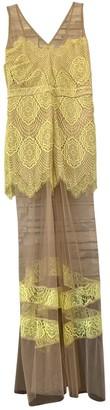 For Love & Lemons Yellow Polyester Dresses