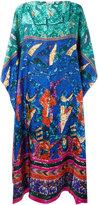 Pierre Louis Mascia Pierre-Louis Mascia - patterned maxi dress - women - Silk - One Size