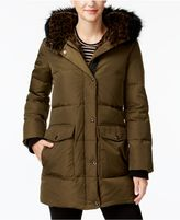 Kenneth Cole Faux-Fur-Lined Hooded Coat