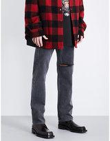 Vetements Destroyed Regular-fit Straight Jeans
