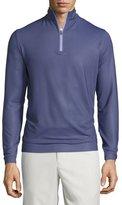 Peter Millar Perth Herringbone Quarter-Zip Sweater, Purple