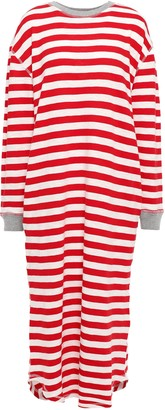 Sleepy Jones Striped Slub Cotton-jersey Nightdress