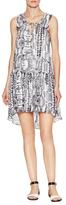 Rachel Zoe Silk Sierra V-Neck Drop Waist Dress