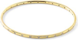 Ippolita 18kt yellow gold Stardust 28 diamond bangle