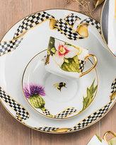 Mackenzie Childs MacKenzie-Childs Ribbon Thistle & Bee Dinner Plate