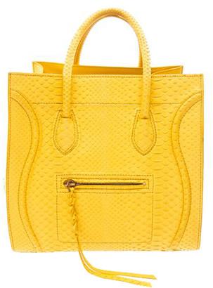 Celine Yellow Python Medium Phantom Luggage Tote