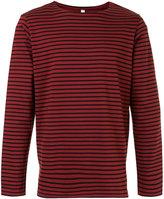 Attachment striped T-shirt