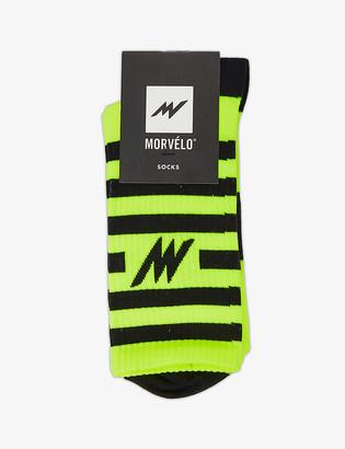 Morvelo Series striped knitted socks