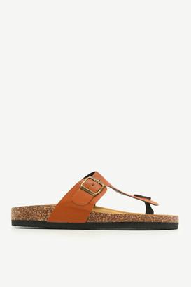 Ardene Cork Midsole T-Strap Sandals