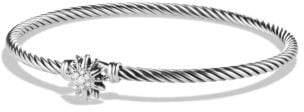 David Yurman Starburst Bracelet With Diamonds, 3Mm