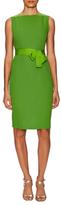 Oscar de la Renta Silk Sleeveless Sheath Dress