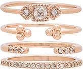 Shashi Jasmine Ring Set in Metallic Copper. - size 7 (also in 8)