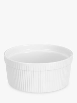 John Lewis & Partners Porcelain Round Souffle Oven Dish, 19cm, White