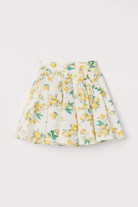 H&M Cotton Circle Skirt - White