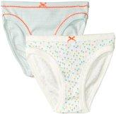 Petit Bateau 2 Pack Underwear (Toddler/Kid) - Aqua Multicolor - 6 Years
