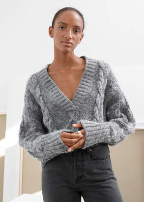 And other stories Oversized Cable Knit Sweater