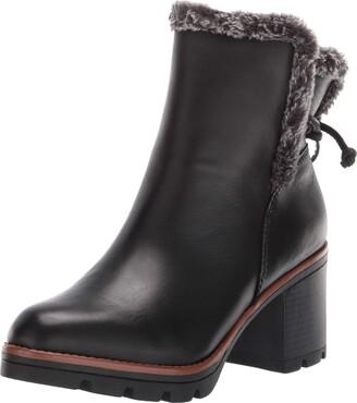 Naturalizer Womens Valene Black Leather Waterproof Booties 9.5 M