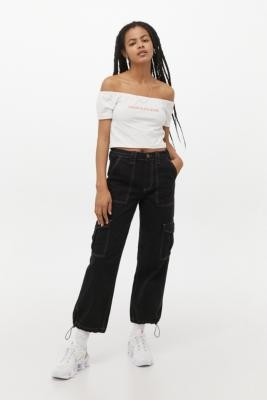 BDG Toggle Hem Skate Jeans - Black 28W 30L at Urban Outfitters