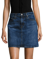 AG Adriano Goldschmied Ali Cal A Line Denim Skirt