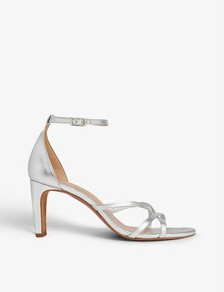 Whistles Hallie strappy metallic-leather heeled sandals