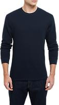 Jaeger Cotton Waffle Long Sleeve T-shirt, Navy