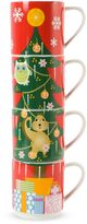 Maxwell & Williams Maxwell & WilliamsTM Kris Kringle Tree Stackable Holiday Mugs (Set of 4)