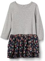 Gap Floral skirt keyhole dress