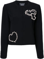 Moschino pearled hearts jacket - women - Polyester/other fibers - 44