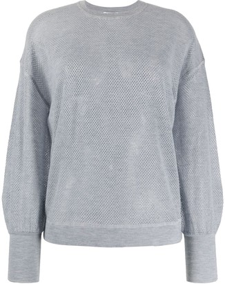 Eres Crew Neck Perforated Cashmere Sweater