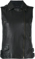 Muu Baa Muubaa - biker gilet - women - Leather - 10
