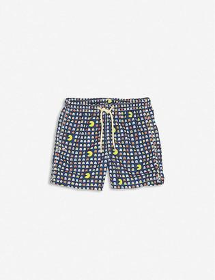 MC2 Saint Barth Pac-Man recycled polyester swim shorts 4-14 years