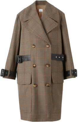 Burberry Houndstooth Check Wool Double-Breasted Coat