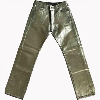 Maison Margiela Silver Cotton Jeans