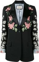 Gucci floral embroidered blazer - women - Silk/Spandex/Elastane/Viscose/Wool - 38