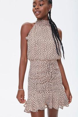 Forever 21 Cheetah Print Mock Neck Dress
