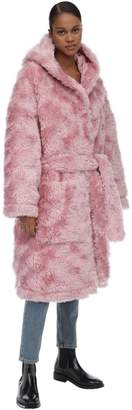 Vetements Plush Wrap Faux Fur Coat