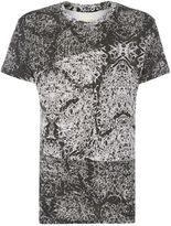 Eleven Paris Regular Fit West 77 Cracked Print T Shirt