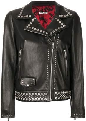Miu Miu studded leather jacket
