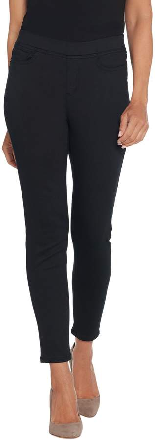 Denim & Co. Petite Color Soft Stretch Pull-on Ankle Jeans