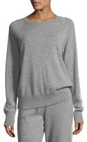 Theory Athletic Stripe Crewneck Cashmere Sweater