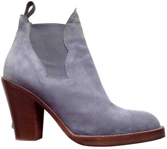 Acne Studios Star Blue Suede Ankle boots