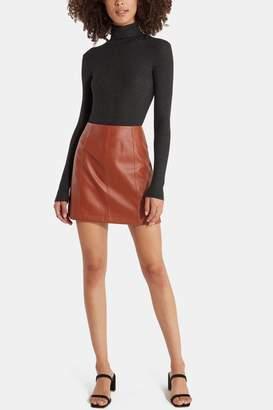 4SI3NNA the Label Carson Leather Mini Skirt