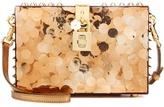 Dolce & Gabbana Sequin Plexiglass Box Clutch