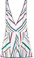 Milly Metallic Striped Cotton-Blend Mini Dress