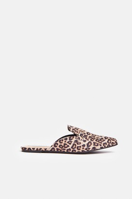 Coast Animal Print Backless Loafers