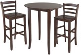 Winsome Wood Fiona High Round Table with Ladder Back Stool, 3-Piece